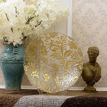 Glas Obstschale Gold Grosse Moderne Schale Obst Obstschale Saal