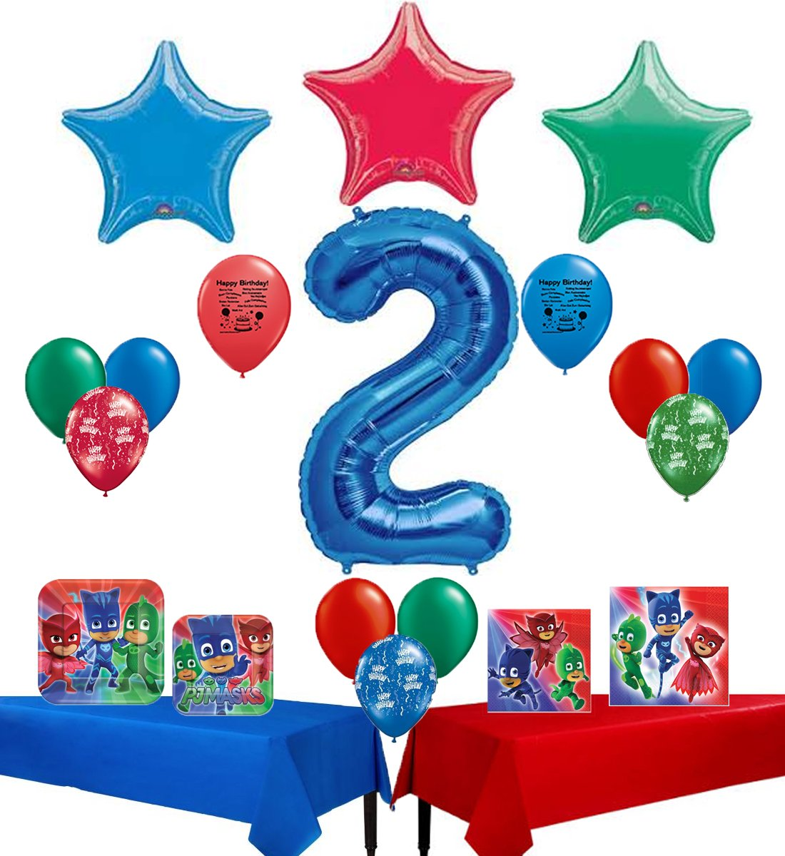 Amazon PJ Masks Happy 2nd Birthday Party Supply And Balloon Bundle Toys Games