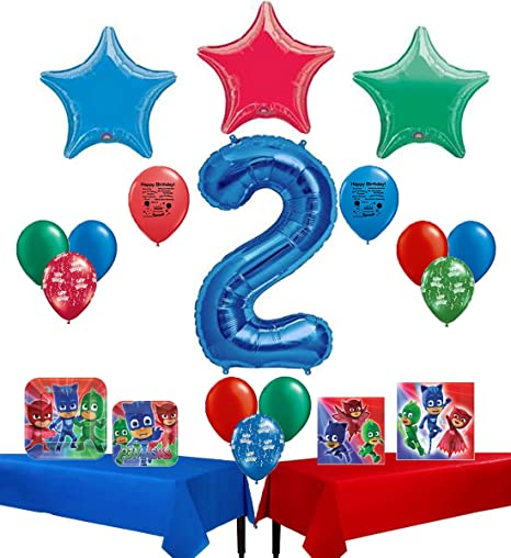 Amazon PJ Masks Happy 2nd Birthday Party Supply And Balloon