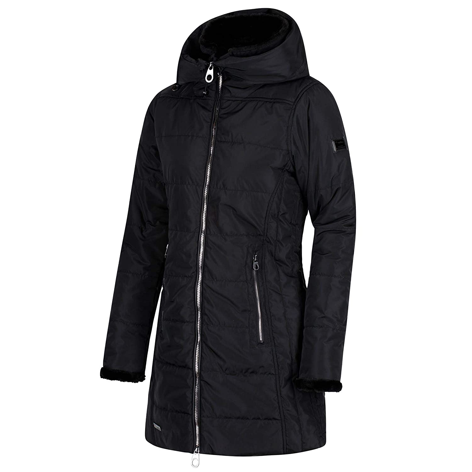 55d00598f65 Regatta Women s Pernella Water Repellent Insulated and Lined Zip-down Hooded  Jacket  Amazon.co.uk  Sports   Outdoors