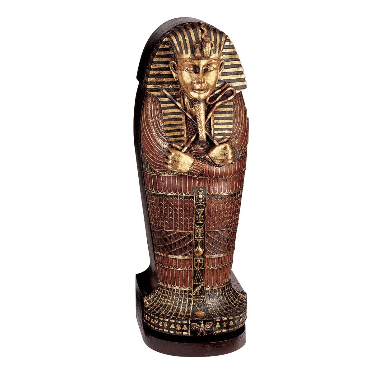Design Toscano King Tutankhamen's Egyptian Mummy Sarcophagus Coffin DVD Storage Cabinet, 27 Inch, Gold Leaf by Design Toscano