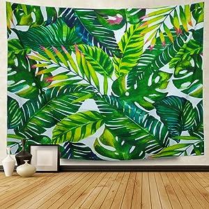 Amonercvita Leaf Tapestry Wall Hanging Palm Leaf Tapestry Banana Leaf Tapestry Wall Tapestry for Living Room Bedroom Dorm Decor (X-Large, Banana Leaf 007)