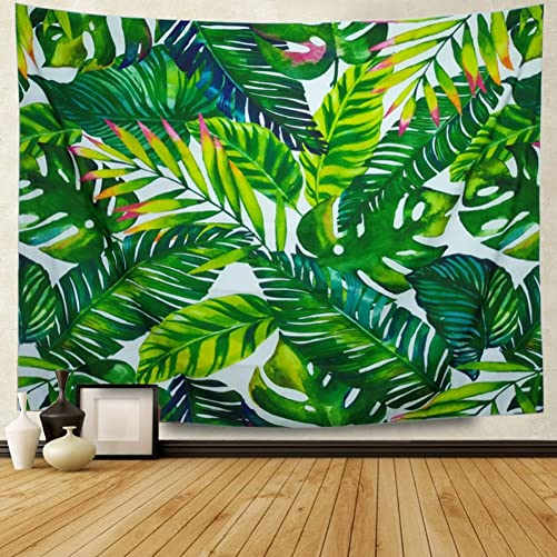 Amonercvita Leaf Tapestry Wall Hanging Palm Leaf Tapestry Banana Leaf Tapestry Wall Tapestry for Living Room Bedroom Dorm Decor X-Large, Banana Leaf 007