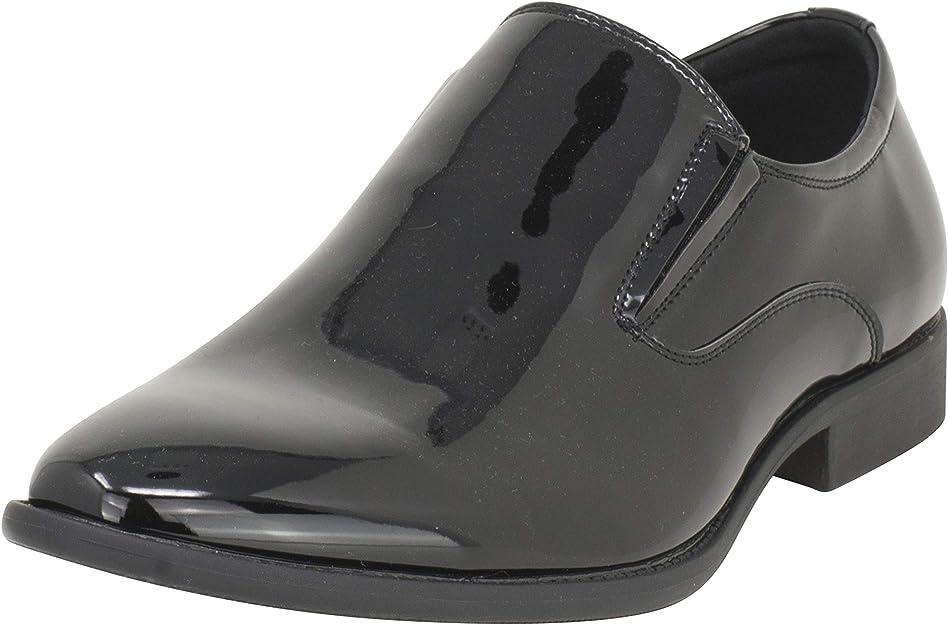 TALLA 41 EU. Smokies Hombres Zapato de Novia Charlie sintético Slipper Smokingschuh Lack Lederfutter (EU,)