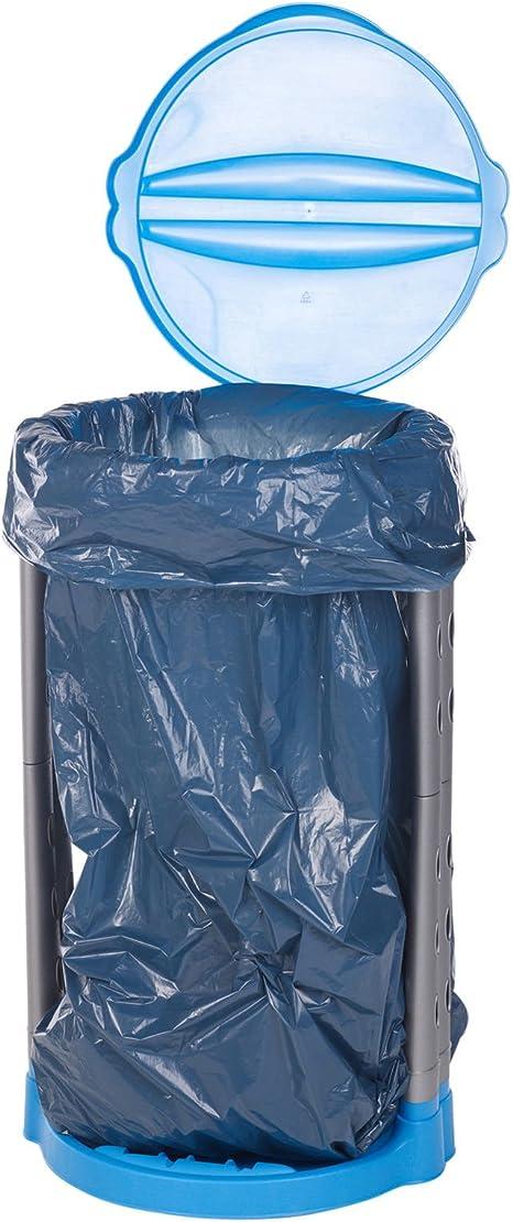 HOHT Pliable Plastique Recycler Garbage Sac Poubelle de d/échets de Cuisine Support Sac pour Jardin ext/érieur Camping 120L