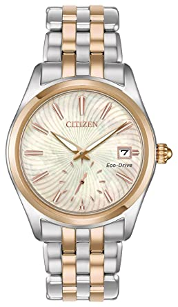 d7ebaf4139b368 Amazon.com: Citizen Watches Women's EV1036-51Y Eco-Drive Two-Tone ...