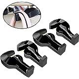 Advgears 4 Pack Car Seat Hook Back Car Headrest Hanger Hooks Vehicle Universal Car Organizer For Bag Purse Cloth Grocery