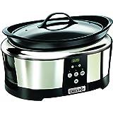 Crock-Pot SCCPBPP605 - Olla de cocción lenta digital de 5.7 L, color plateado