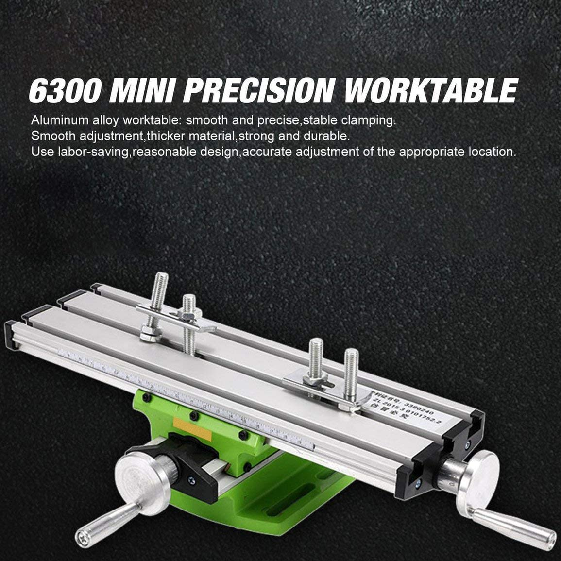 6300 Mini mesa de trabajo multifunción de precisión Accesorio de tornillo de banco Taladro Fresadora Mesa de coordenadas de ajuste de eje X e Y (Color: verde): Amazon.es: Bricolaje y herramientas