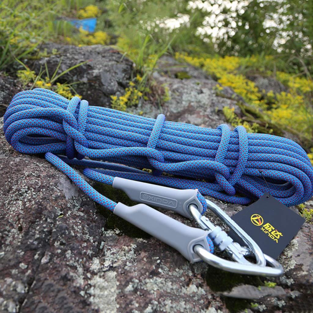 クライミングハーネス 屋外下り坂クライミングロープ、厚い12ミリメートルエンジニアリング保護ロープは、耐摩耗性外壁クリーニングロープを、高所作業の安全ロープ (Color : 12mm-20m) 12mm-20m