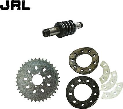 jrl 6 agujeros dientes piñón y eje de embrague para 66/80cc Motor ...