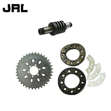 jrl 6 agujeros dientes piñón y eje de embrague para 66/80cc Motor de 2 tiempos motorizado bicicleta: Amazon.es: Coche y moto