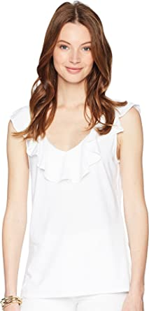 37b075db5ce702 Lilly Pulitzer Women's Alessa Top Resort White X-Large at Amazon ...