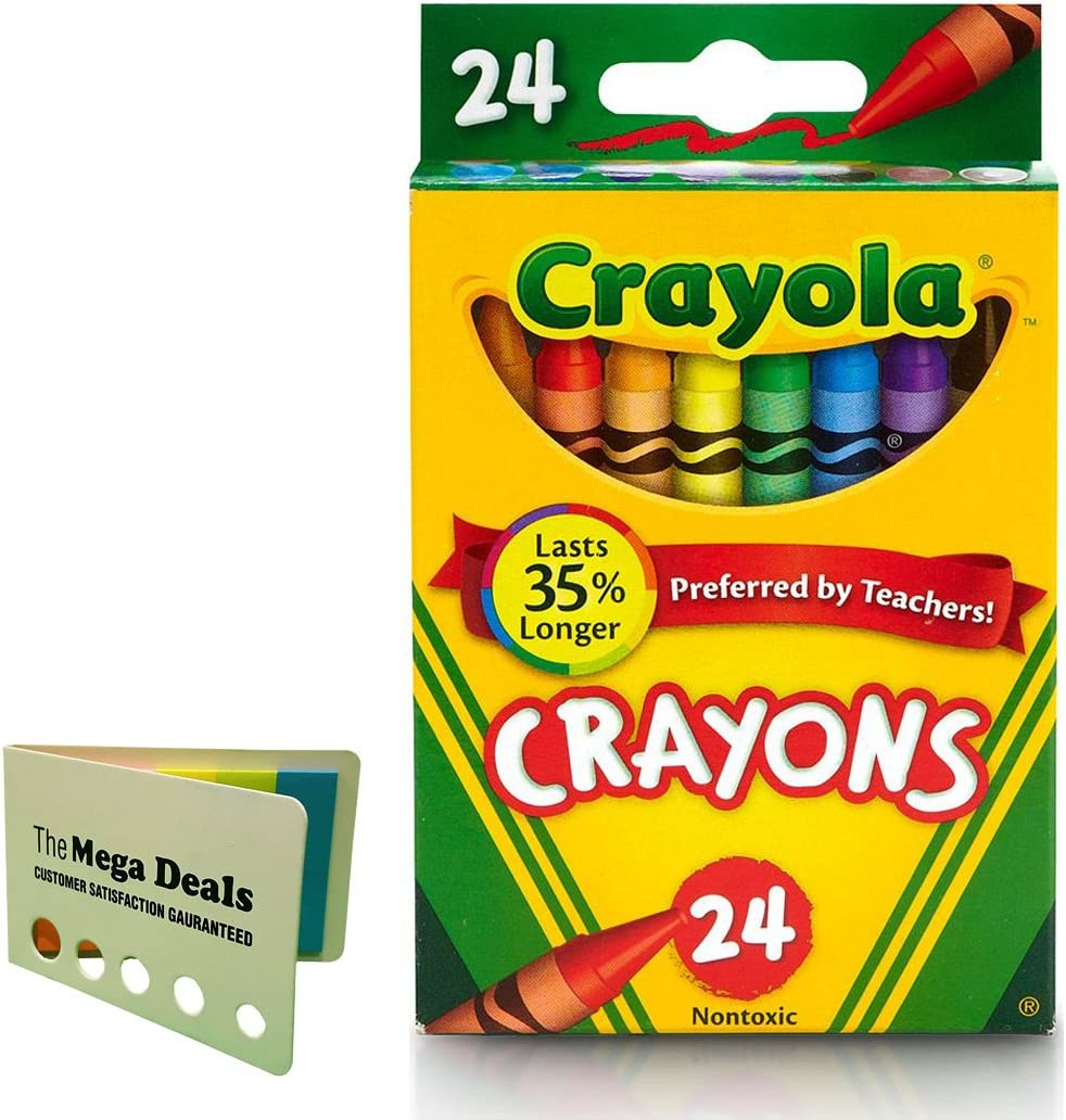 Crayola Crayons 24 ct (Pack of 2) Includes 5 Color Flag Set