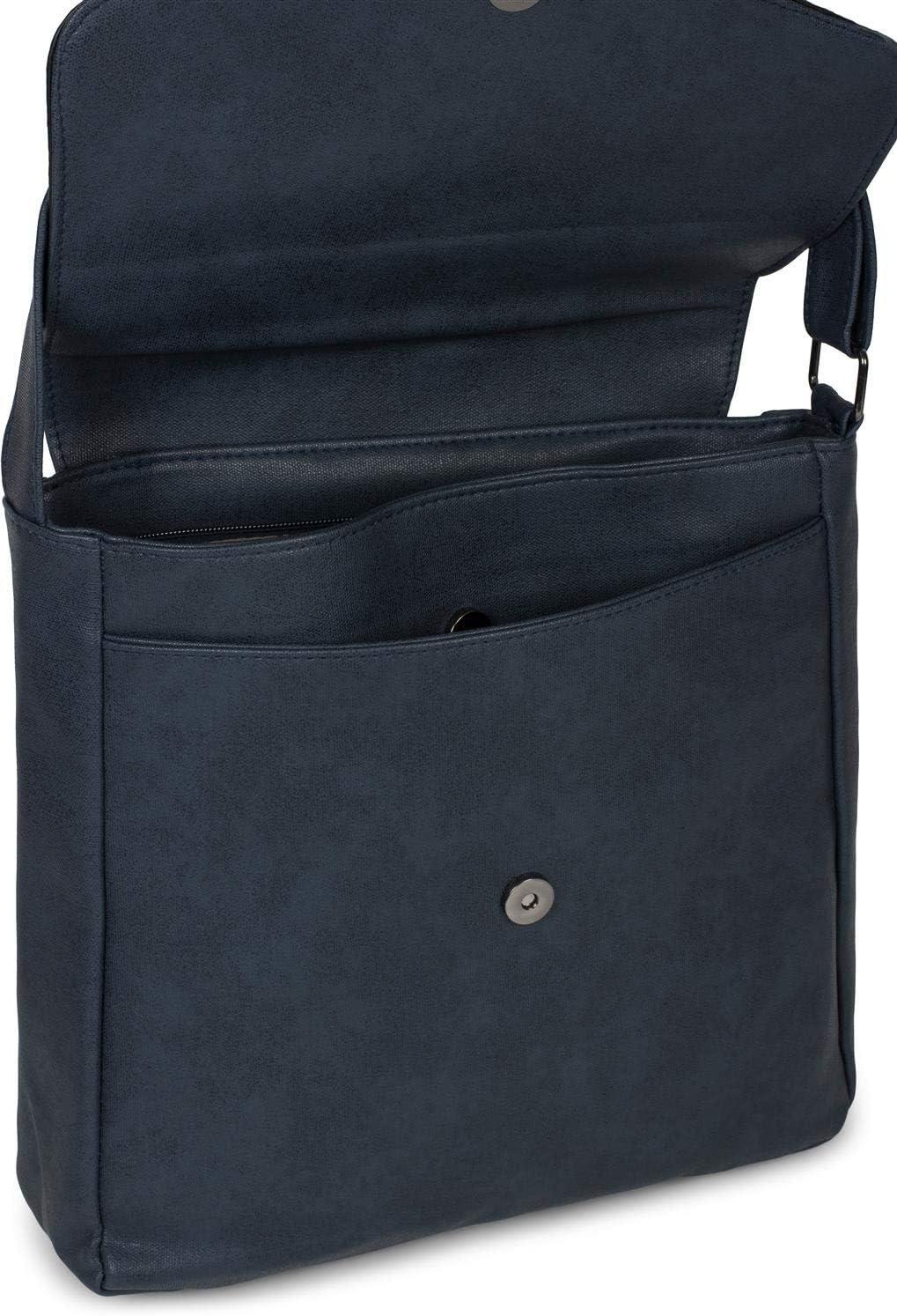 Bolso Cruzado Bolso 02012294 styleBREAKER Bolsa de Mensajero//Bolso de Bandolera de Mujer con Solapa de Lentejuelas Color:Azul Oscuro Bolso de Hombro