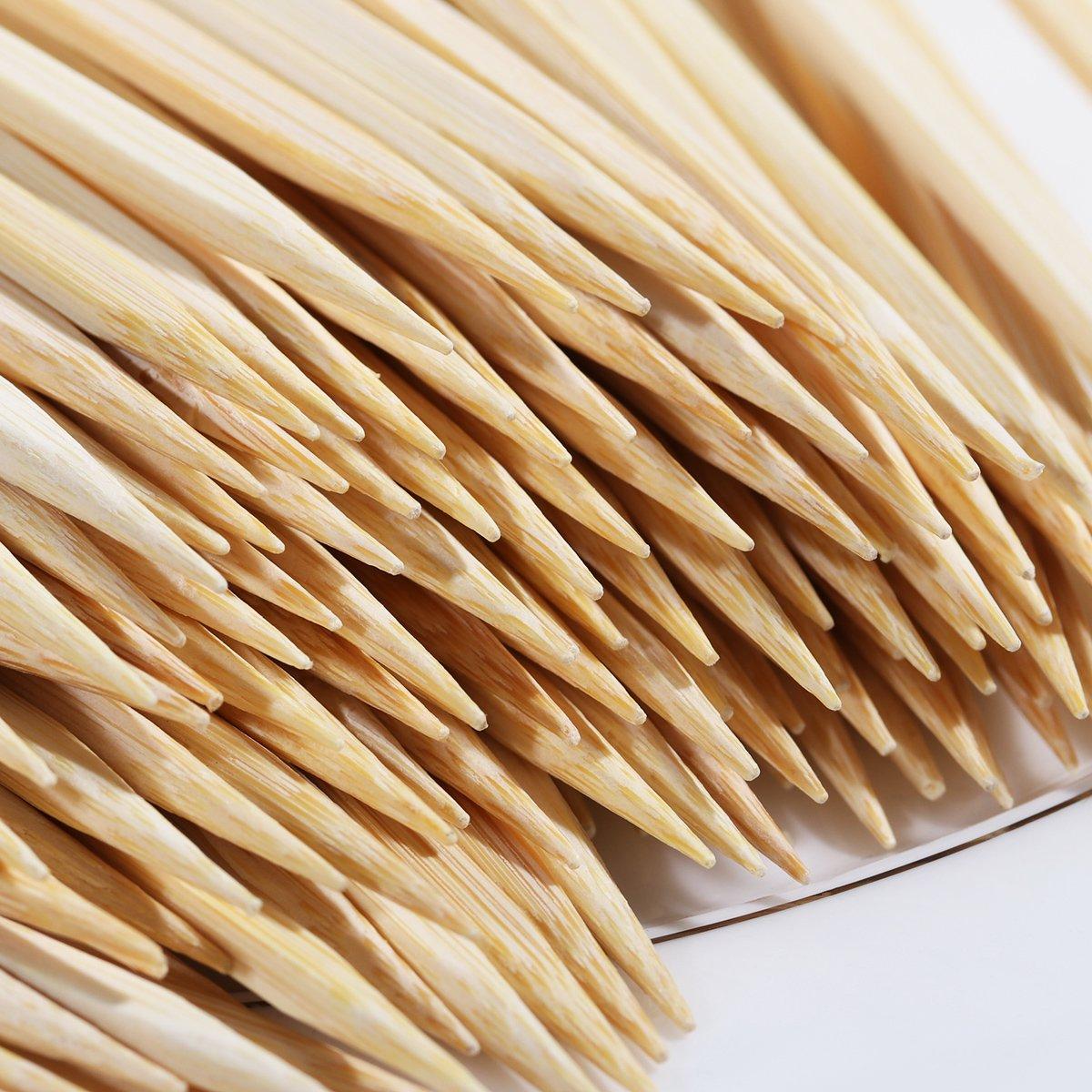 GreeStore 200PCS bastoncini di bamb/ù per arrosti 21/cm grill party sandwich Torrefazione bastoni per frutta BBQ Tools spiedini di bamb/ù naturale