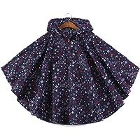 QZUnique Kids' Lightweight Outdoor Ripstop Waterproof Packable Rain Jacket Poncho Raincoat with Hood