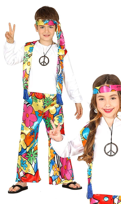 Guirca 87482 - Hippie Infantil Talla 7-9 Años: Amazon.es: Juguetes ...