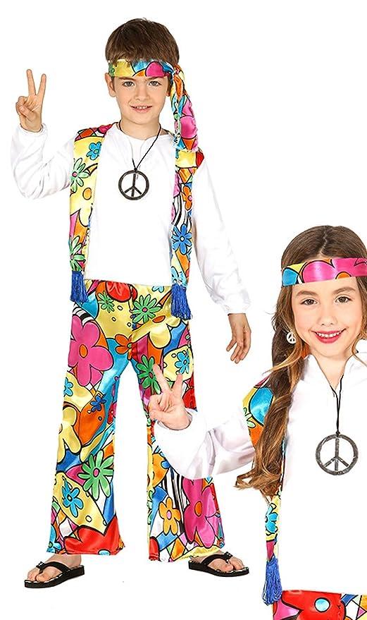 87480 3-4 Anni Guirca- Costume Hippie Bimbo/A Multicolore 95-105 cm