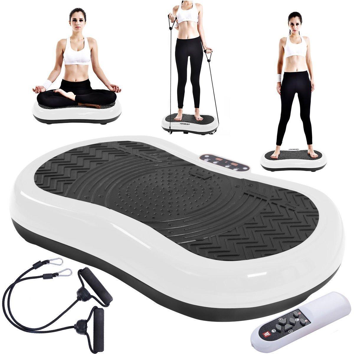 Tangkula Ultrathin Mini Crazy Fit Vibration Platform Massage Machine Fitness Gym (White) by Tangkula (Image #3)