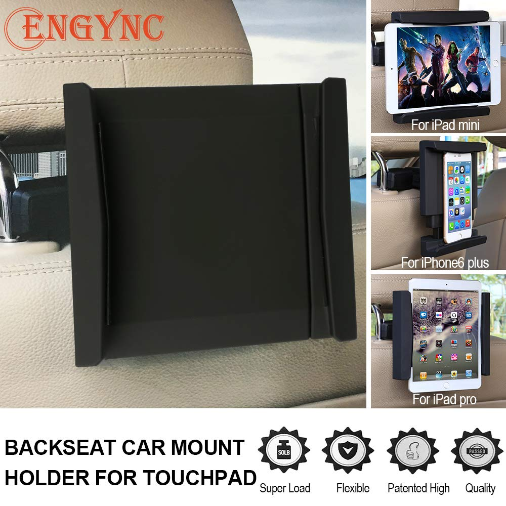 Tablet PC Holder for Car, Universal 360 Degree Adjustable Rotating Backseat Car Mount for 4-12Inches Touchpad