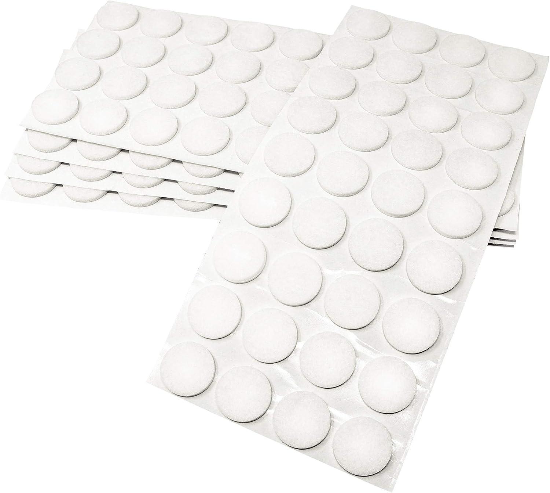 /Ø 14 mm Protectores de suelo para patas de mueble con grosor de 3,5 mm de la m/áxima calidad auto-adhesivos blanco 60 x almohadillas de fieltro redondo Adsamm/®