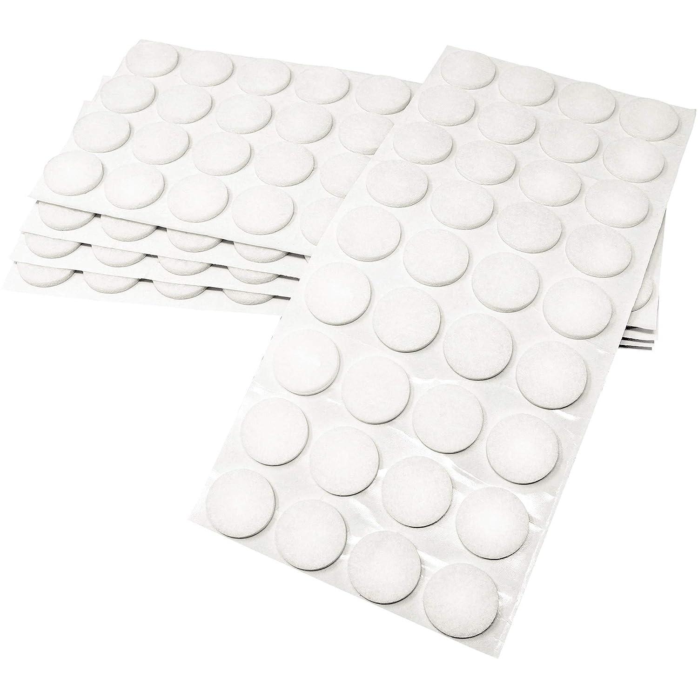 wei/ß selbstklebend M/öbelgleiter in Top-Qualit/ät 40 Filzgleiter 50x50 mm quadratisch 3.5 mm