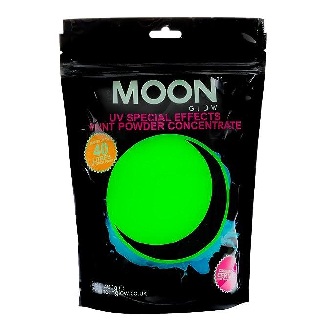 Pintura neón en polvo UV fluorescente de color verde lima