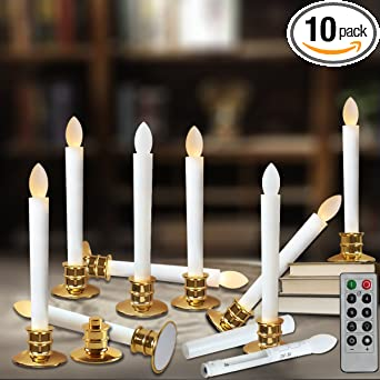 Amazon.com: Window Candles With Remote Timers Battery Operated ...