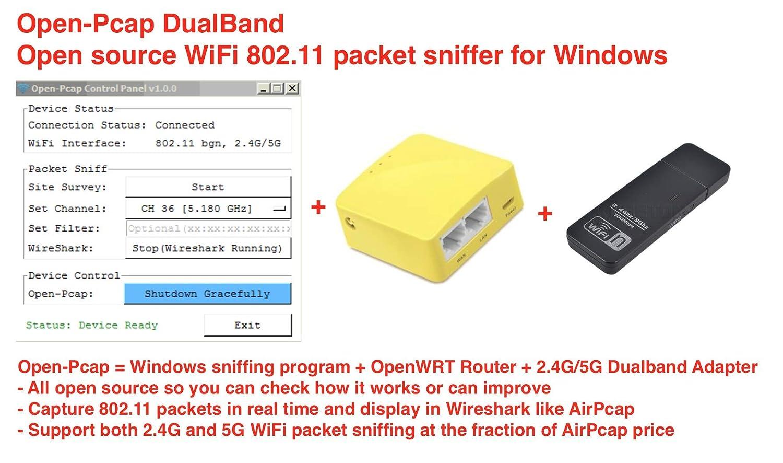 Amazon com: OpenPcap Dual-Band WiFi Sniffer, 802 11 Wireless