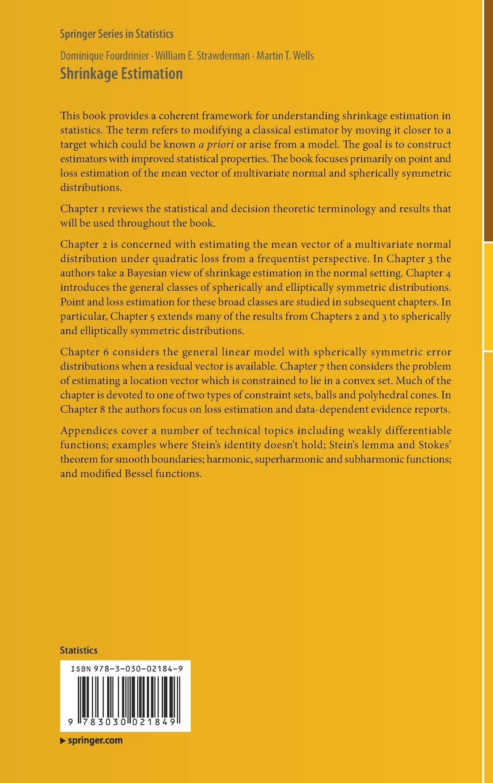 Shrinkage Estimation (Springer Series in Statistics): Amazon