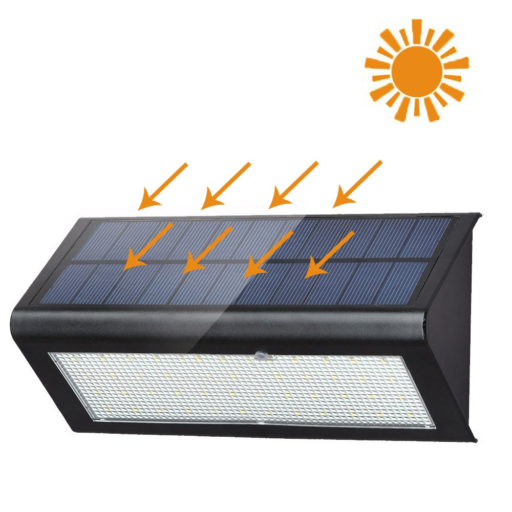 XYTMY 48 LED 800lm Solar Lights - Super Bright, Mircowave Radar Motion Sensor Lights - Wide Detection Angle, Wireless Waterproof Security Wall Light for Patio, Deck, Yard, Garden, Path, Home, Stairs