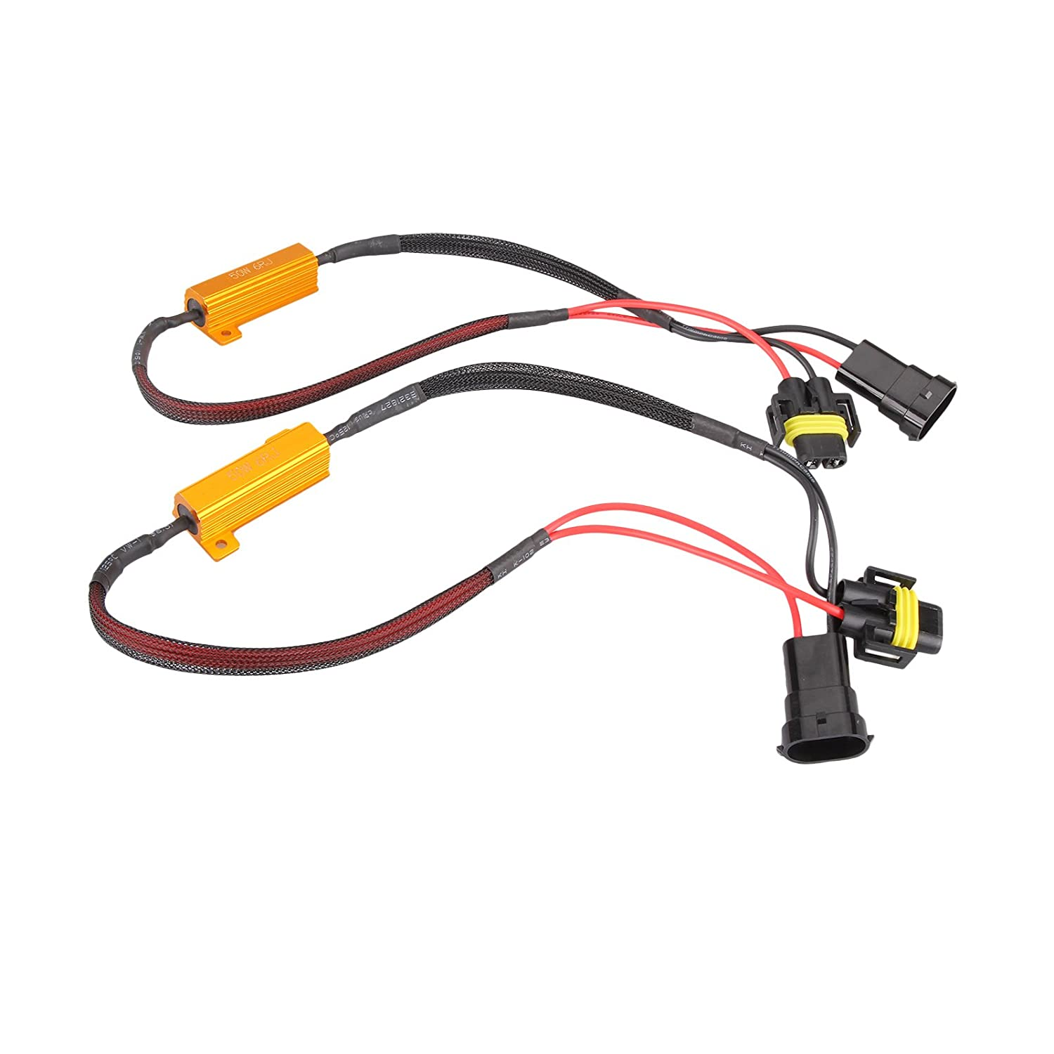 Electric Vehicle Parts 2x H8 H11 Led Drl Fog Light Canbus 50w Load Resistor Error Free Decoder Cancel At All Costs Atv,rv,boat & Other Vehicle