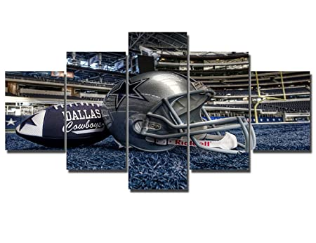 Amazon.com: Large NFL Sports Painting Dallas Cowboys Canvas Prints Wall Art Super Bowl Home Decor Framed 5 Pcs Pictures Modern Artwork Home Decor for Living ...