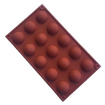 VolksRose molde de silicona para Chocolate, Gelatina Y Candy etc - colores aleatorios, 15 redondo bola: Amazon.es: Hogar