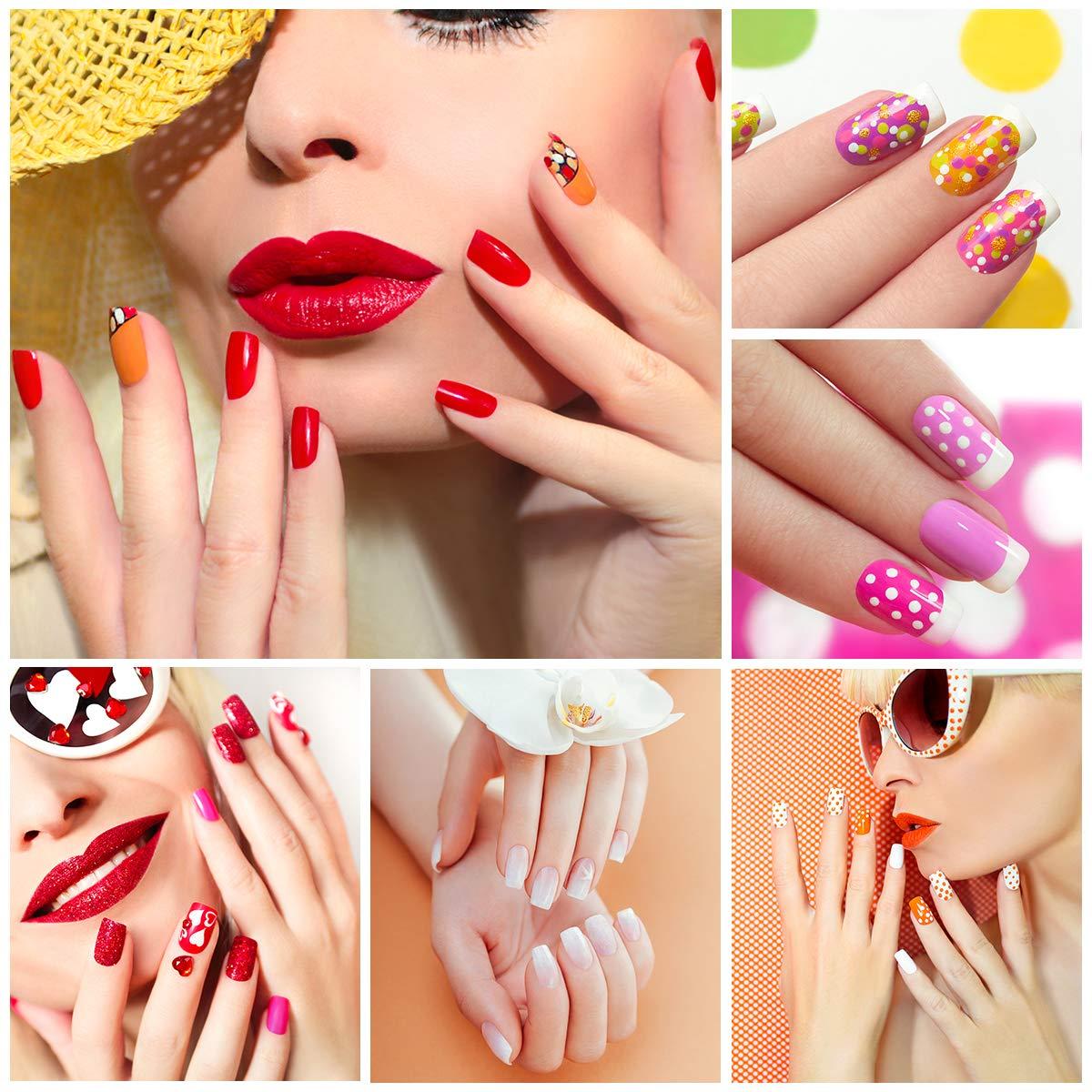 Fake Nail Tips French Nail Tips Half Cover Fake Toenails Natural Color Artificial Nail Art Supplies Nail Art Tips 500pcs