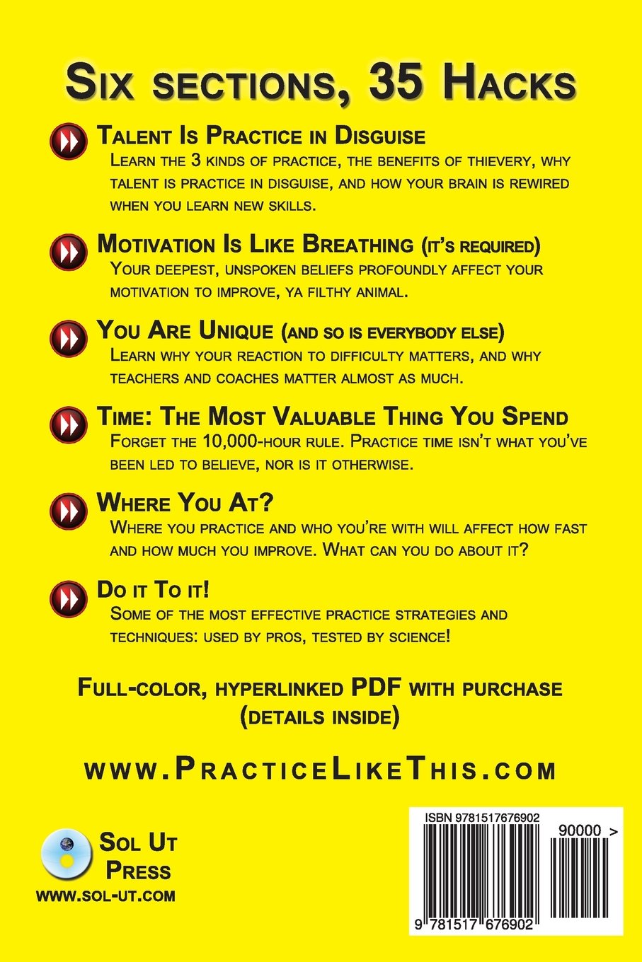 Practice Like This!: 35 Effective Ways To Get Better Faster: Jonathan  Harnum Phd: 9781517676902: Amazon: Books