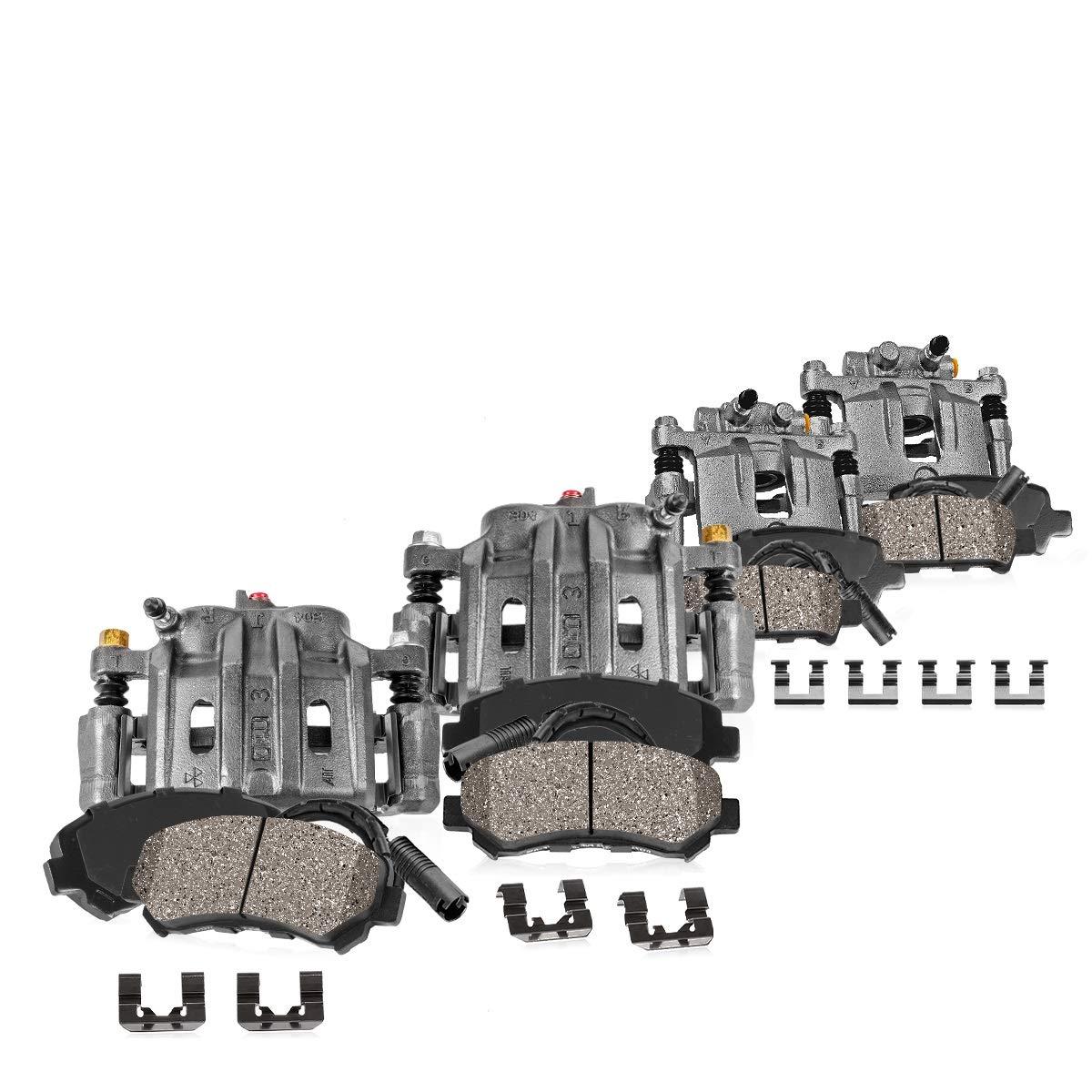 Clips 4 Ceramic Pads for BMW 328i xDrive FRONT+REAR Premium Original Brake Calipers Callahan CCK04615 Sensors