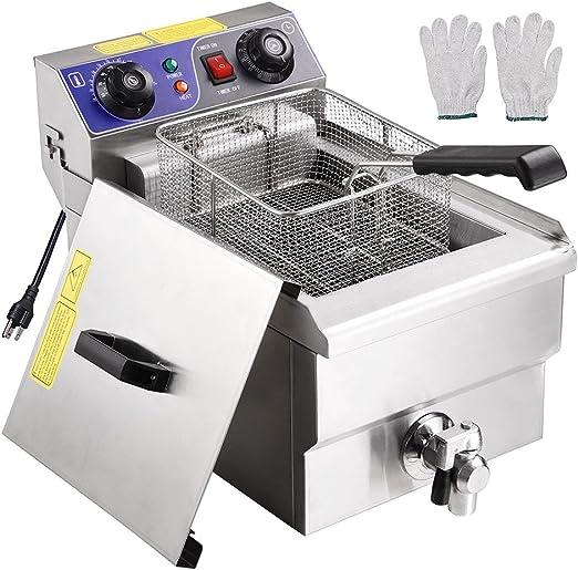 Amazon.com: WeChef - Freidora eléctrica comercial de acero ...
