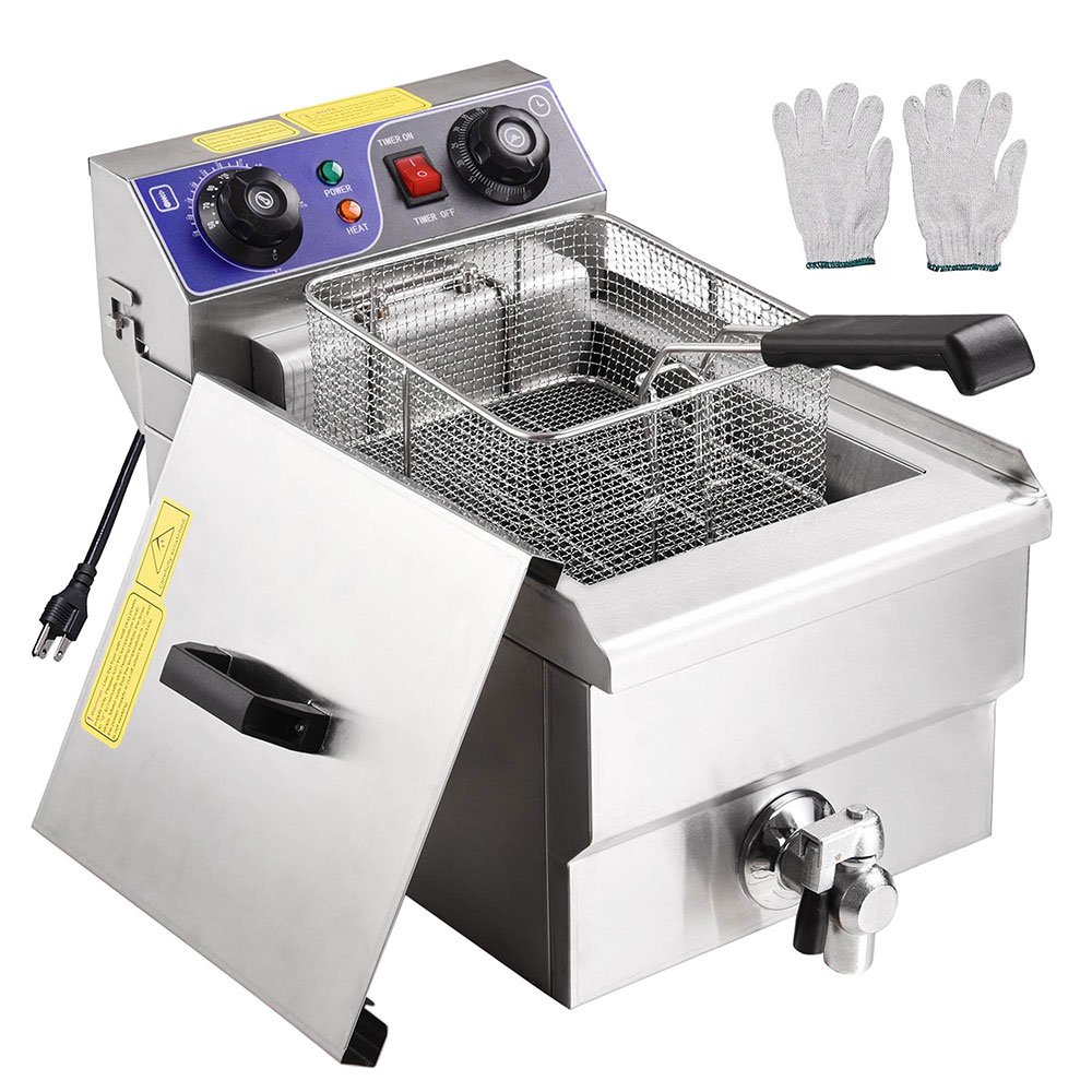 Yescom Commercial Professional Electric 11.7L Deep Fryer Timer and Drain Stainless Steel French Fry Restaurant Kitchen by Yescom (Image #2)
