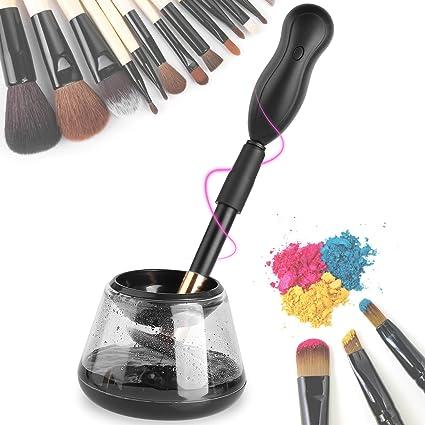 MVPOWER Limpiador y Secador Automático para Brochas Cepillos de Maquillaje Rotación de 360 Grados con 8