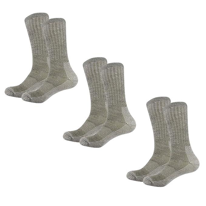 Caudblor Calcetines de lana Merino Blend Crew Calcetines de media pantorrilla térmica para hombres, 3