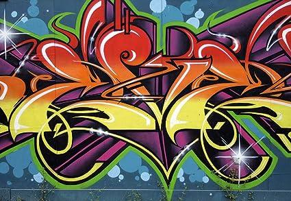 Graffiti Wall Wallpaper Mural - - Amazon.com