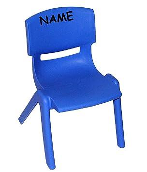 Kinder Plastikstuhl stuhl für kinder blau incl namen für innen außen
