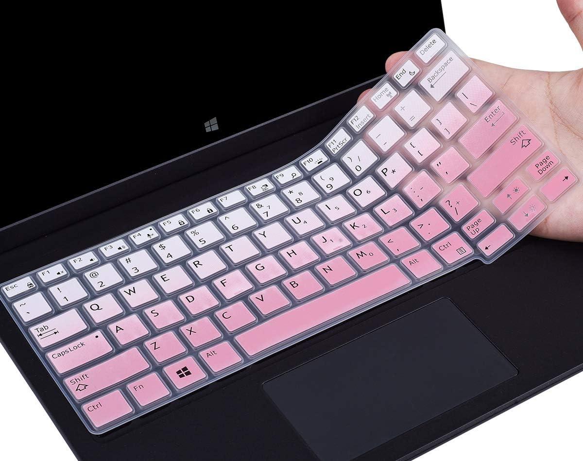 "CaseBuy Keyboard Cover Compatible with Dell Latitude 7370 7380 7389 7390 13.3 inch / 12.5"" Dell Latitude E7250 E7270 7280 7290 E5250 E5270 Laptop Anti Dust Waterproof Protector Skin, Ombre Pink"