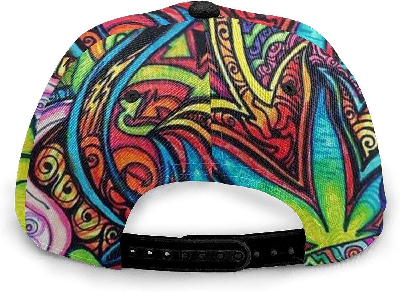 Neon Hand Cannabis Man Flat-hipNice Foldable Travel Cap