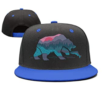 87f51d5863d0 Image Unavailable. Image not available for. Color: Brand Caps Bear  California Adjustable Printing Snapback ...