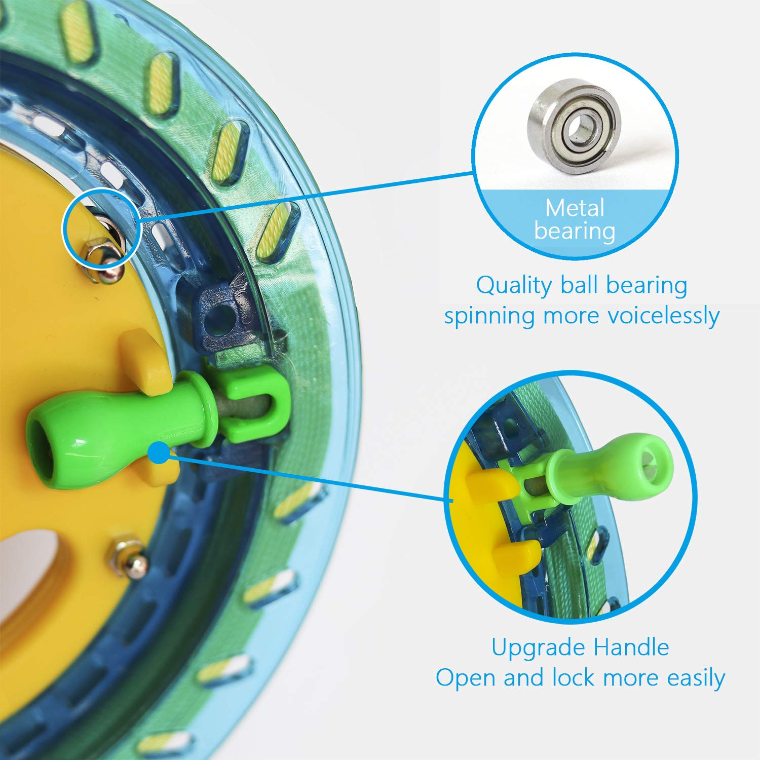 with 600ft Line Smooth Rotation Ball Bearing Tool for Single Line Kite Flying for Kids//Teens Red Dia Kite String Flight Tool Reel Winder Handle Lockable Kite 7inches