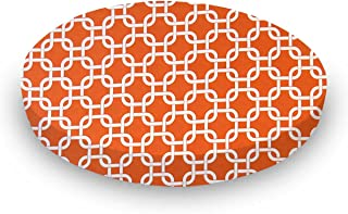 product image for SheetWorld Round Crib Sheets - Orange Links - Made In USA
