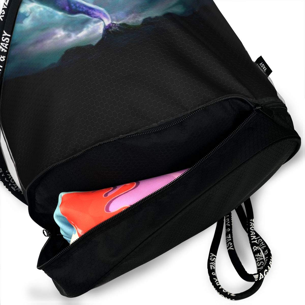 Tornado Horrible Printed Sackpack Sport Cinch Pack Backpack for Men Kji Gym Sack Drawstring Bag Women